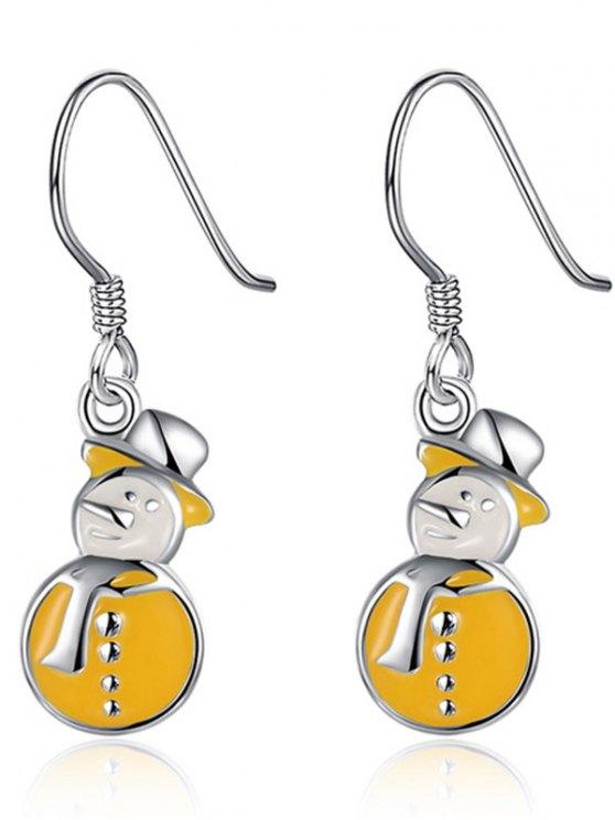 Enamel Snowman Christmas Drop Earrings -   Mobile