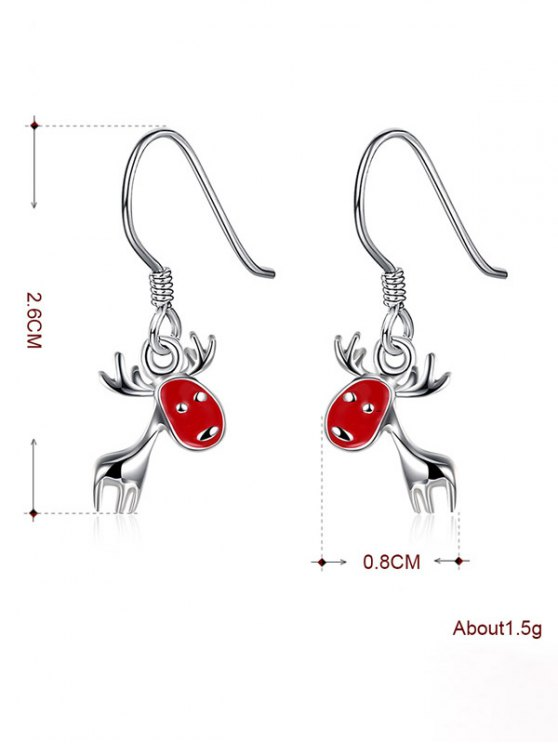 Christmas Deer Enamel Drop Earrings -   Mobile
