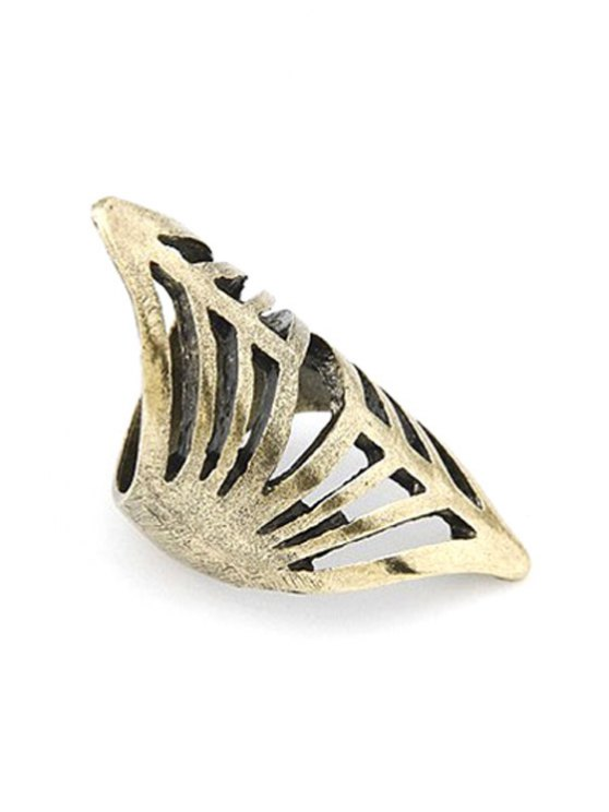 Hollow Out Golden Ring - GOLDEN ONE-SIZE Mobile