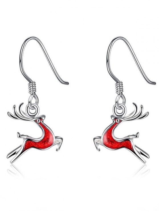 Christmas Elk Enamel Drop Earrings -   Mobile