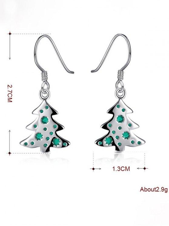 Enamel Tree Christmas Earrings -   Mobile
