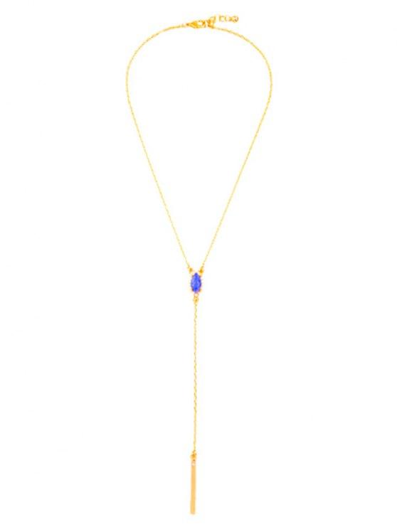 Collier avec pendentif mode Faux Sapphire - Or