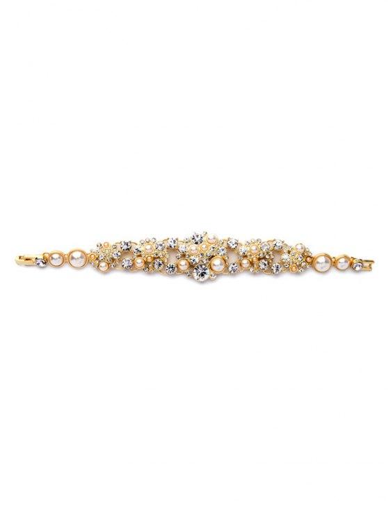 Faux Pearl Chunky Bracelet -   Mobile