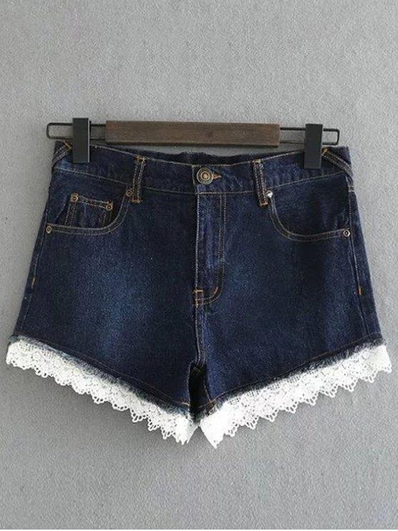Denim y pantalones cortos de encaje - Marina de Guerra M