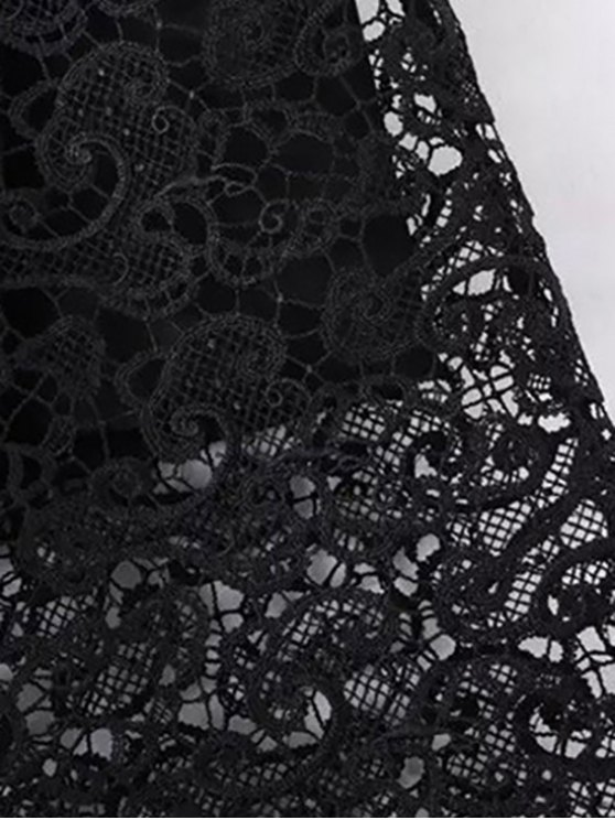 Guipure Lace Tube Skirt - BLACK S Mobile