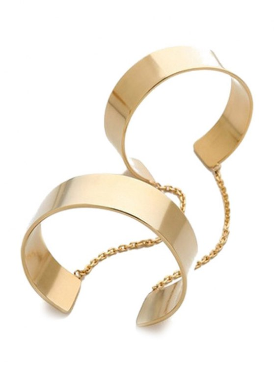 Mirror Side Cuff Bracelet - GOLDEN  Mobile