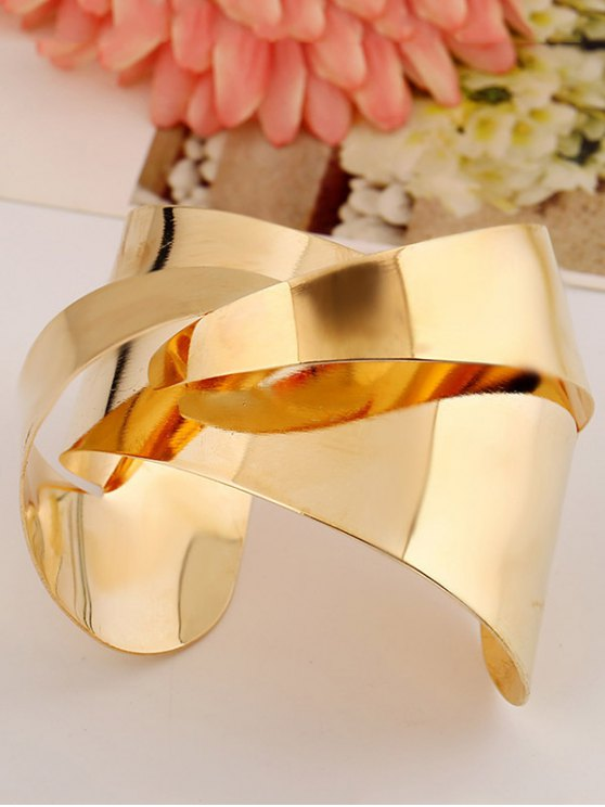 Mirror Side Twisted Cuff Bracelet -   Mobile
