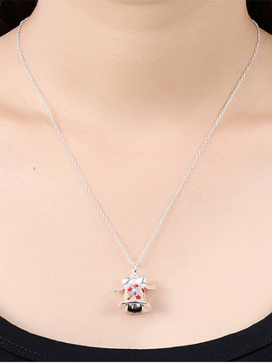 Enamel Bell Christmas Necklace -   Mobile