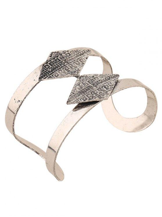 Carving Rhombus Cuff Bracelet -   Mobile