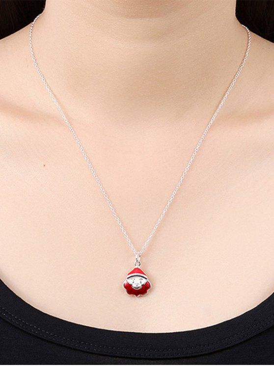 Enamel Santa Claus Christmas Necklace -   Mobile