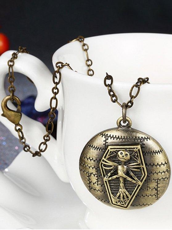 Vintage Christmas Jack Figure Necklace -   Mobile