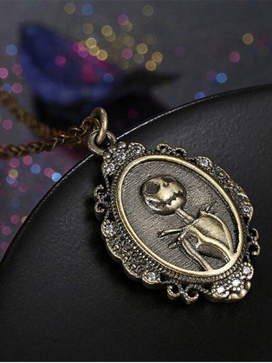 Christmas Jack Figure Pendant Necklace -   Mobile