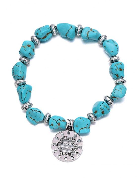 Stylish Turquoise Elastic Bracelet -   Mobile