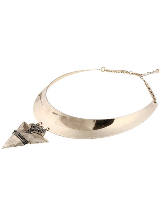 Chunky Triangle Torque Necklace - GOLDEN  Mobile