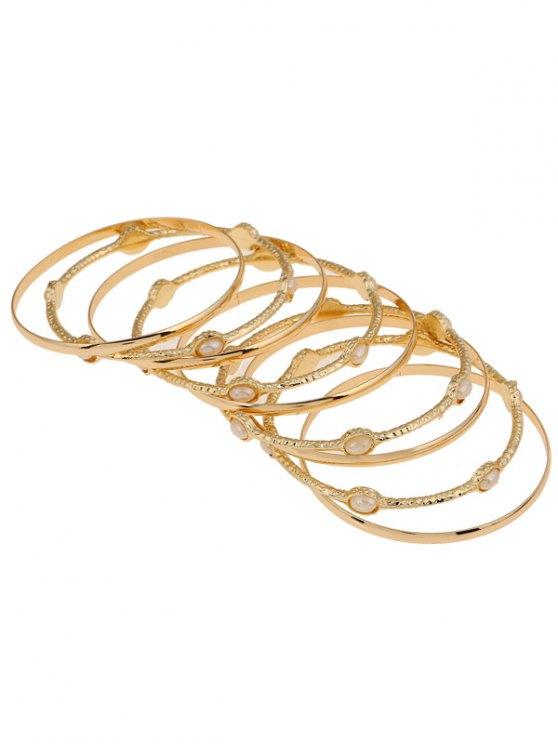 Multi-Layered Alloy Bracelet - GOLDEN  Mobile