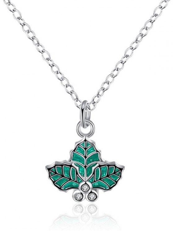 Christmas Leaf Enamel Jewelry Set -   Mobile