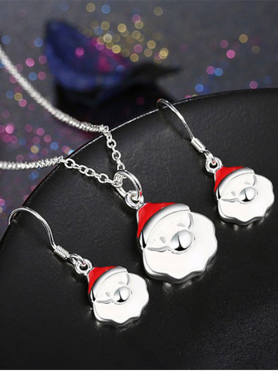 Christmas Santa Claus Enamel Jewelry Set -   Mobile