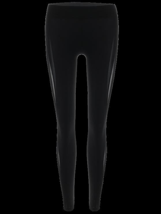 See-Through Mesh Leggings - BLACK L Mobile