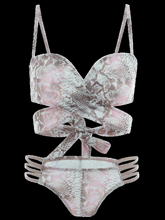 Python Print Wrap Bikini - MULTICOLOR L Mobile
