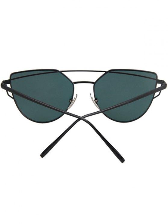 Metal Bar Black Frame Sunglasses - JACINTH  Mobile