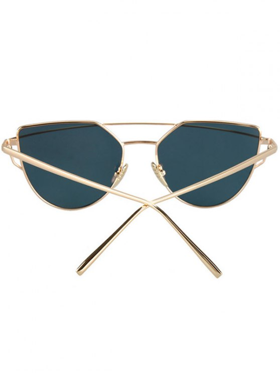 Metal Bar Golden Frame Pilot Sunglasses - GOLDEN  Mobile