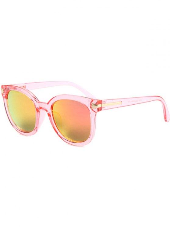 Metal Inlay Transparent Sunglasses - PINK  Mobile