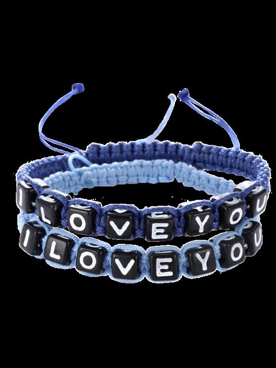 Letters I Love You Bracelets - SAPPHIRE BLUE  Mobile