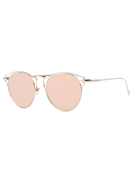 outfits Arrow Cat Eye Mirrored Sunglasses - PINK