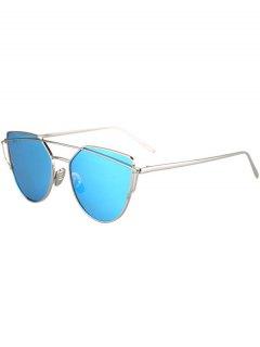 المعادن بار الفضة الإطار النظارات الشمسية - الضوء الأزرق