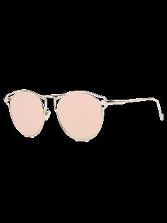Arrow Cat Eye Mirrored Sunglasses - Pink
