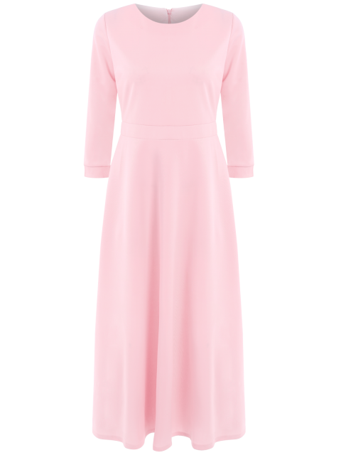 fancy Fit and Flare Maxi Dress - PINK S Mobile