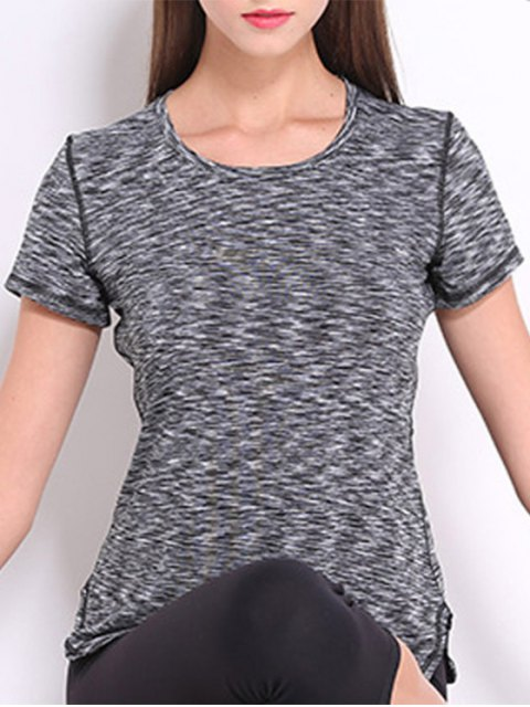 hot Short Sleeve Sports Tee - GRAY XL Mobile
