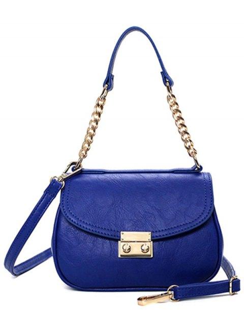 latest Metal Chains Solid Color Shoulder Bag -   Mobile
