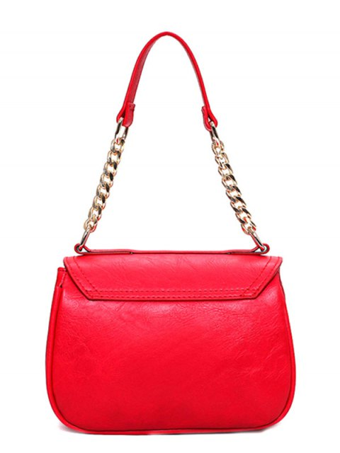 latest Metal Chains Solid Color Shoulder Bag - BLUE  Mobile