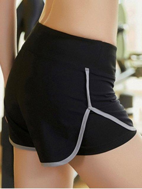 women Skinny Multicolor Super-Elastic Sport Shorts - GRAY L Mobile