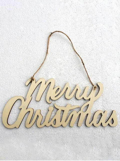 outfit Christmas Letter Hanging Pendants Party Decoration -   Mobile