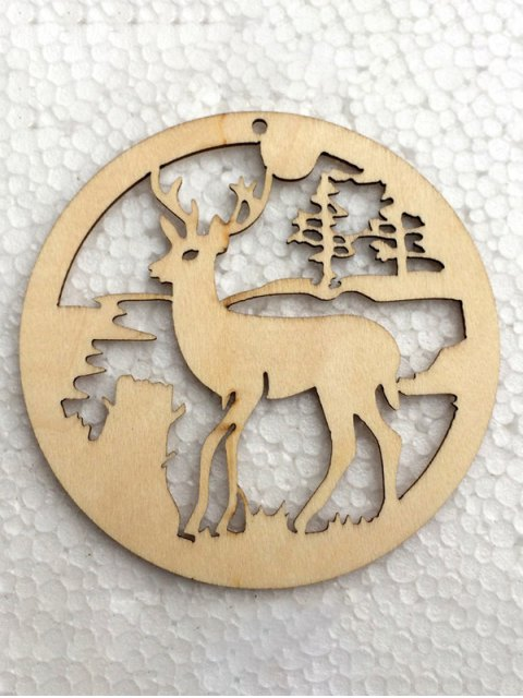 outfits Christmas Tree Hollow Out Deer Hangers Decoration -   Mobile