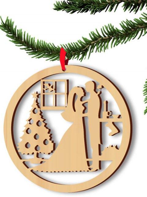 shop Christmas Hollow Out 5PCS Lovers Hangers Decoration -   Mobile