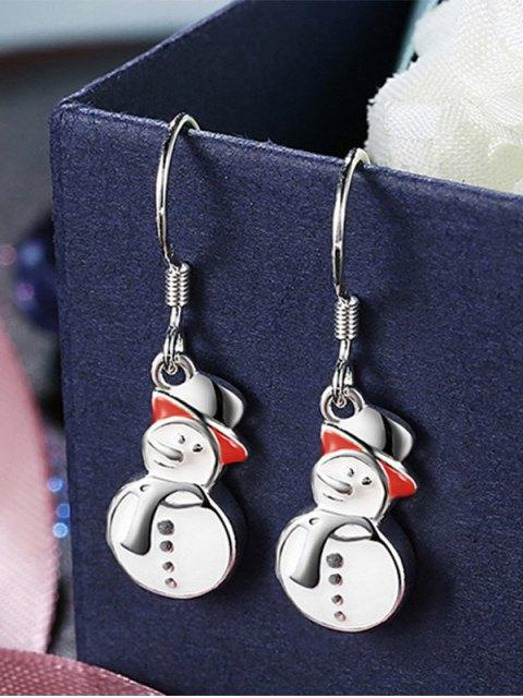 online Enamel Snowman Christmas Drop Earrings -   Mobile