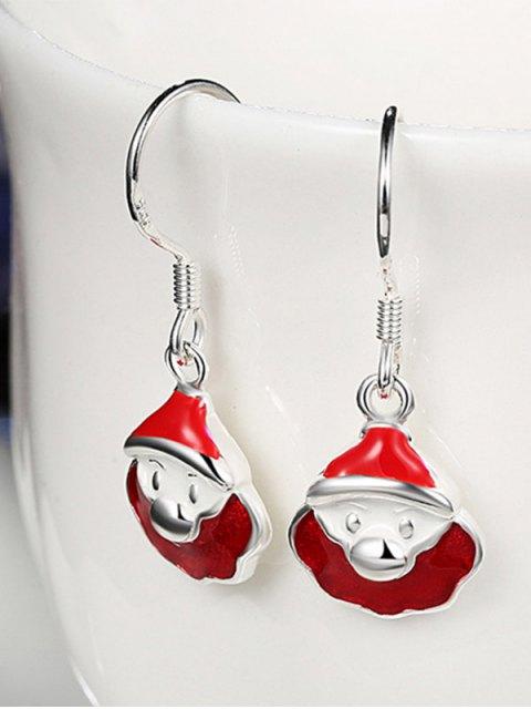 outfit Enamel Christmas Santa Drop Earrings -   Mobile