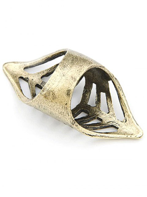 women Hollow Out Golden Ring - GOLDEN ONE-SIZE Mobile