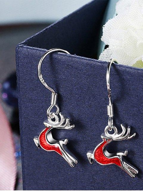 affordable Christmas Elk Enamel Drop Earrings -   Mobile