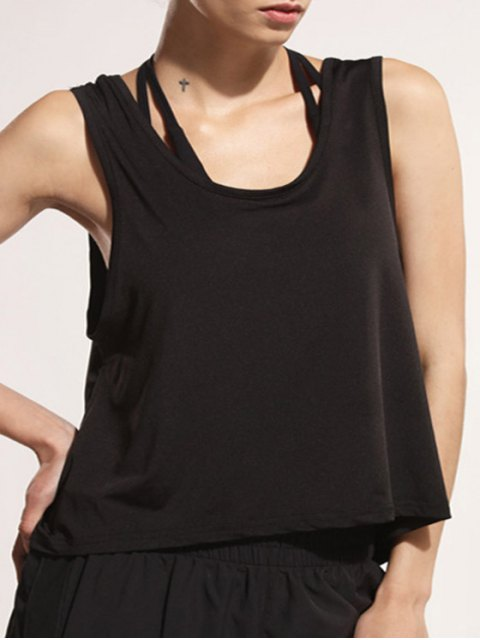 ladies Back Strap Relaxed Tank Top -   Mobile