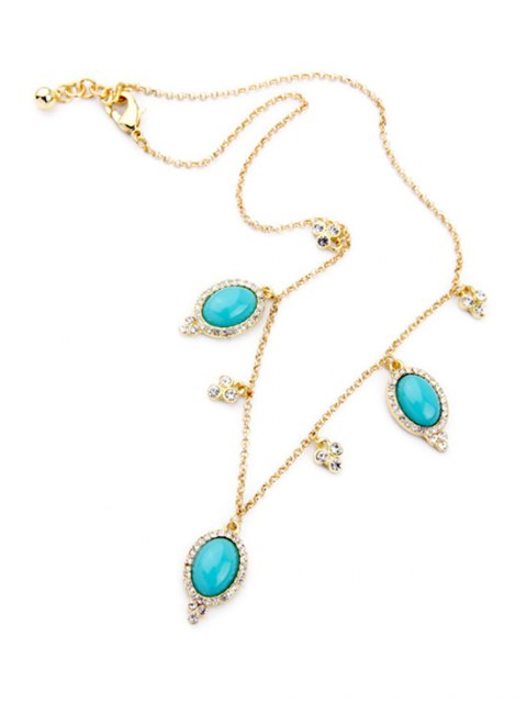 affordable Fake Turquoise Oval Necklace -   Mobile