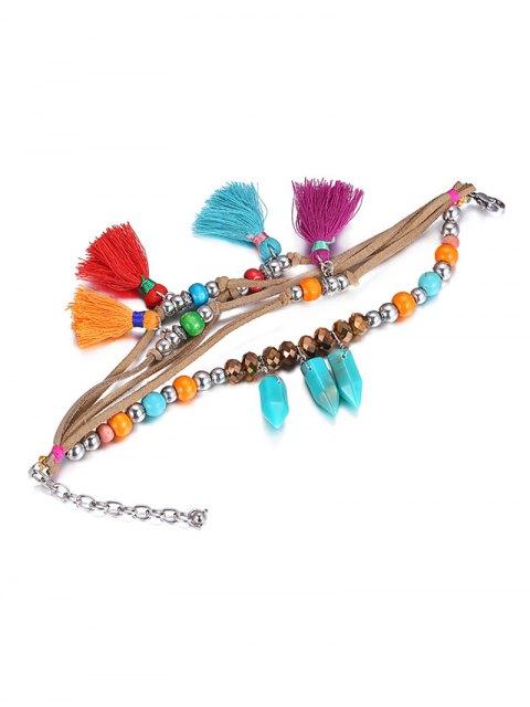 shops Ethnic Vintage Bead Tassel Bracelet - COLORMIX  Mobile