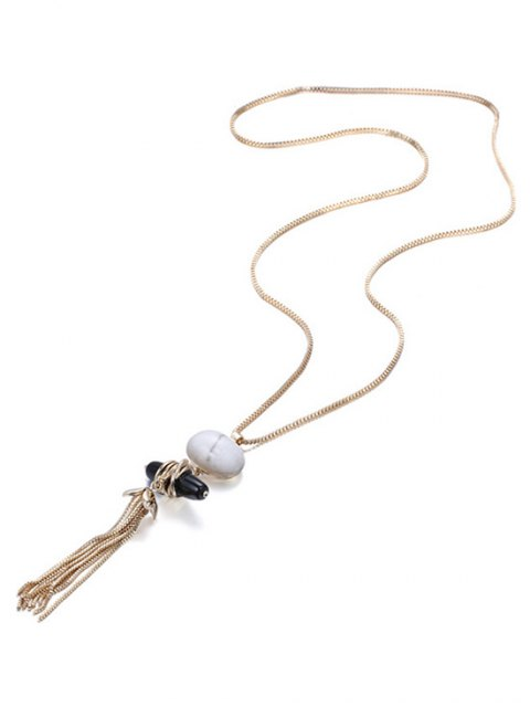 ladies Trendy Natural Stone Sweater Chain -   Mobile