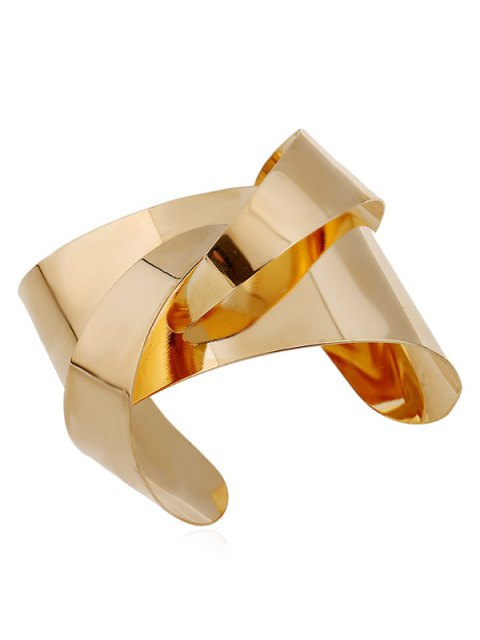 hot Mirror Side Twisted Cuff Bracelet -   Mobile