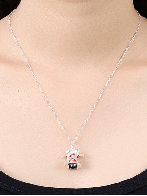 shop Enamel Bell Christmas Necklace -   Mobile