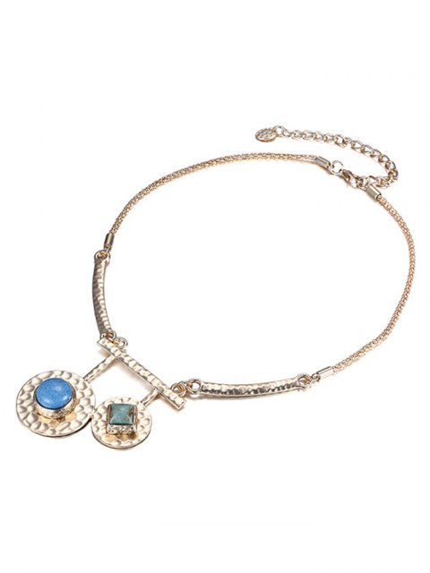 affordable Stylish Stone Decorated Round Necklace -   Mobile