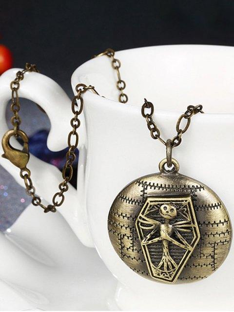 womens Vintage Christmas Jack Figure Necklace -   Mobile